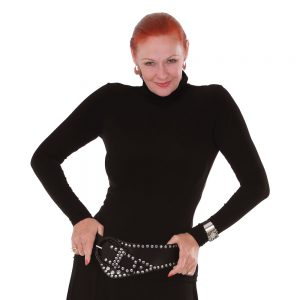 Polo Neck Top Long Sleeve - Thats Me by Margo Mott