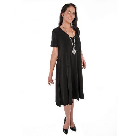 D6008 – Deep V-Neck Dress