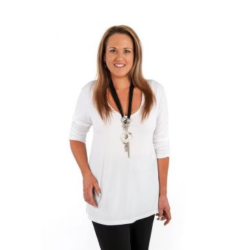 Low Cut Ruched Sleeve Top