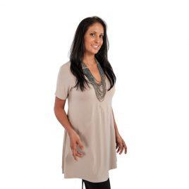 Ladies V-Neck Short Sleeve Top