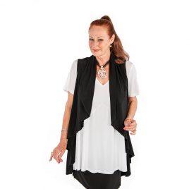 Sleeveless Wrap Longline Jacket
