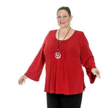 Bell Sleeve Pleated Top