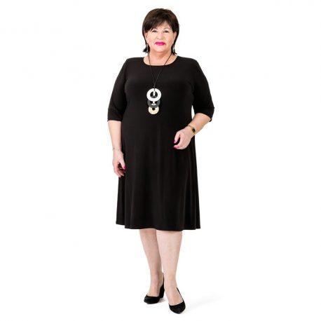 D6013 – Round Neck A Line Dress